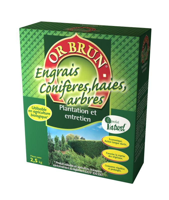 Engrais granul�s haies et conif�res OR BRUN