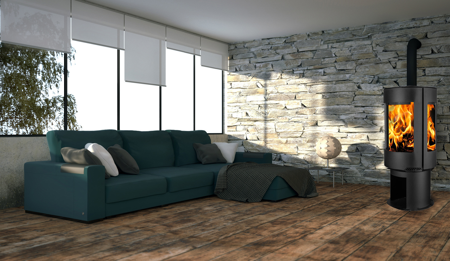 po le pellet artwood aria. Black Bedroom Furniture Sets. Home Design Ideas