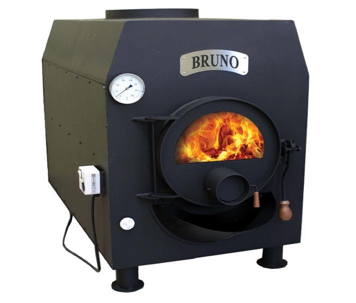 Poêle à bois BRUNO Turbo Poêle à bois BRUNO en inox noir