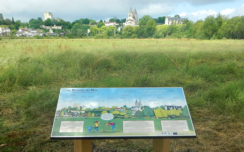 Tables de lecture de paysage dans les Prairies du Roy à Loches