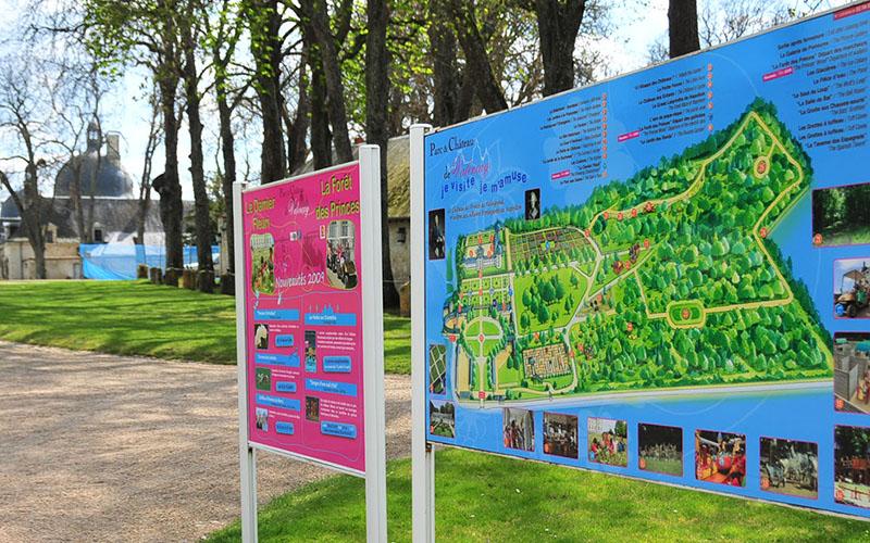 Plan du parc du Chäteau de Valençay